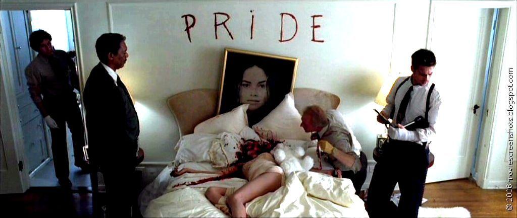 Crime scene illustrating Pride, from the film Seven, by ...
