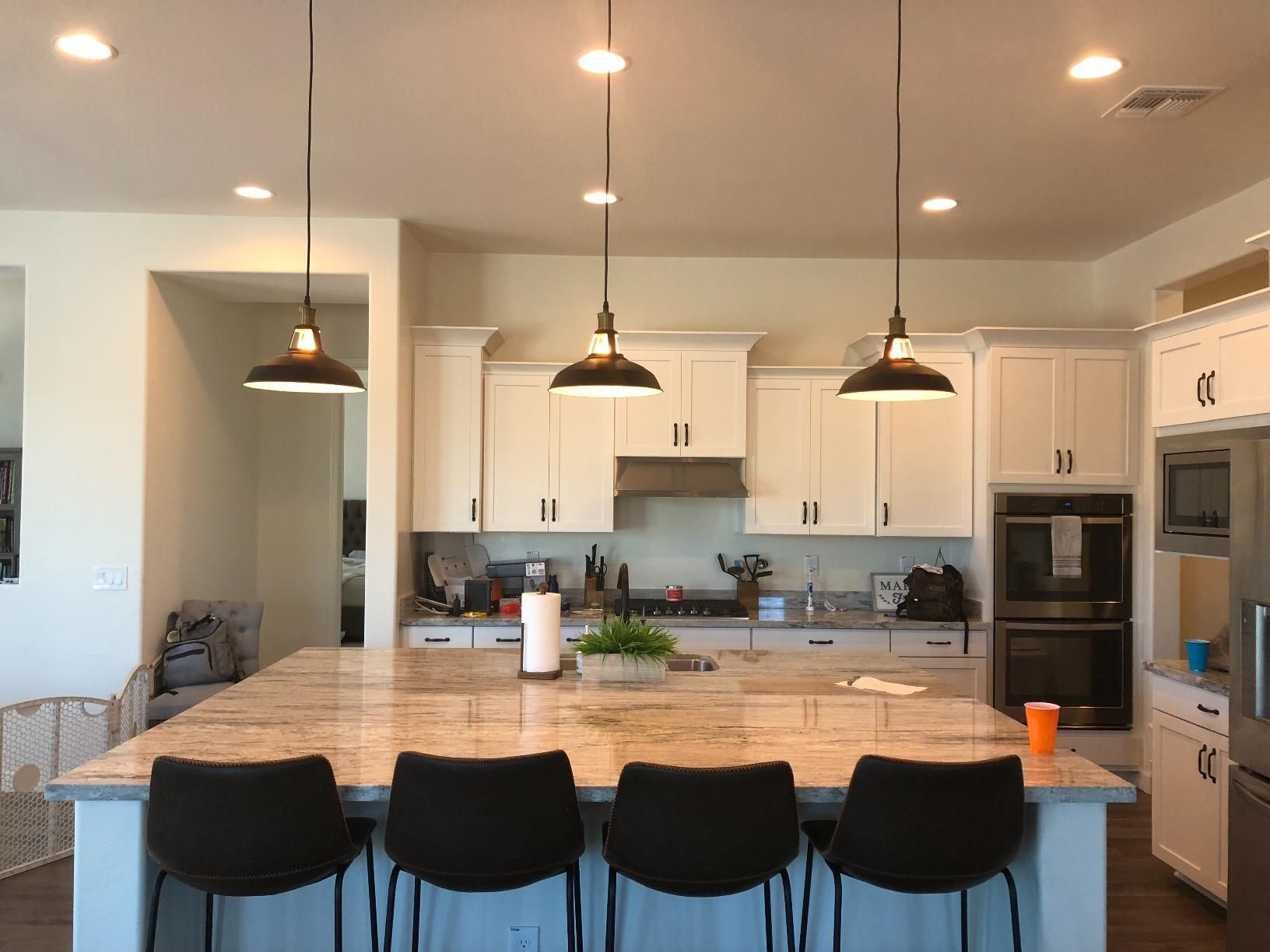Kitchen Island Lighting Idea From Our Dear Customer Kitchen Remodel Large Kitchen Island Rustic Kitchen