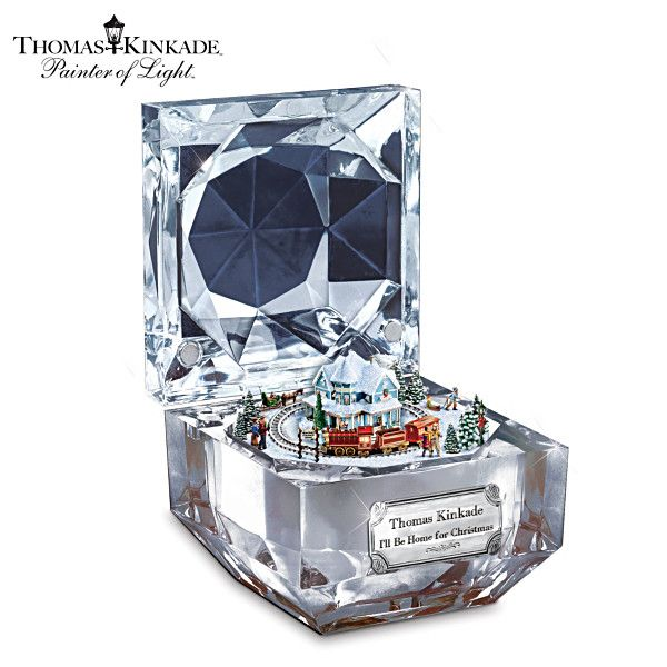 The Ultimate Disney 50 Character Tabletop Christmas Tree: Thomas Kinkade Christmas Music Box With Moving Train