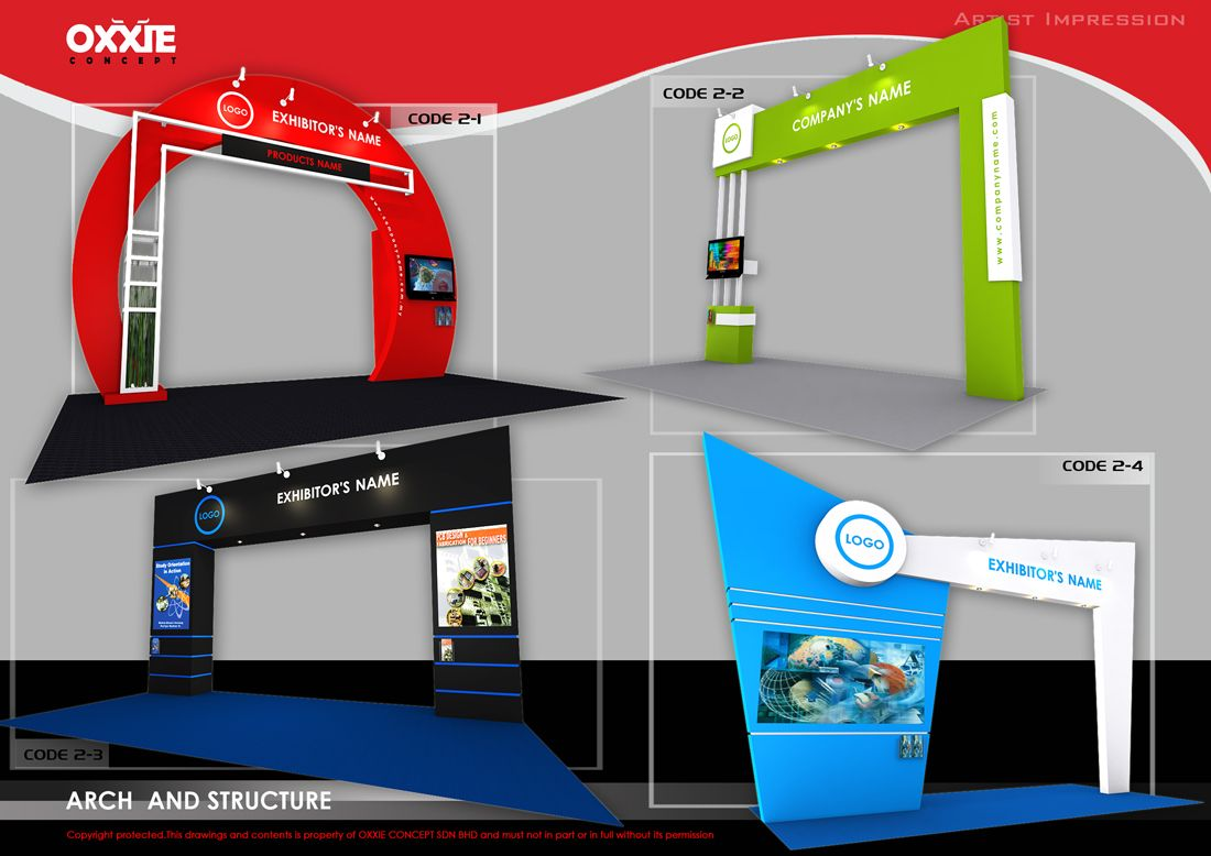 Exhibition Stall Rates In : Offered various package for exhibition booth design display