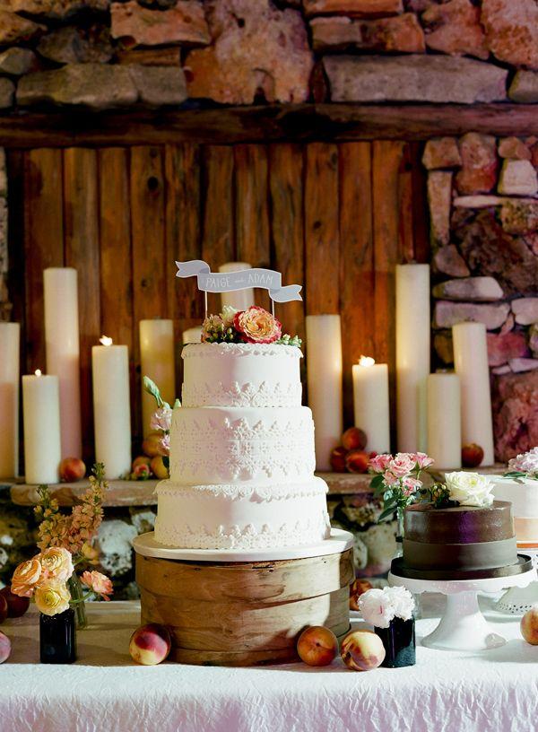 gorgeous tiered white #wedding cake   Tanja Lippert Photography
