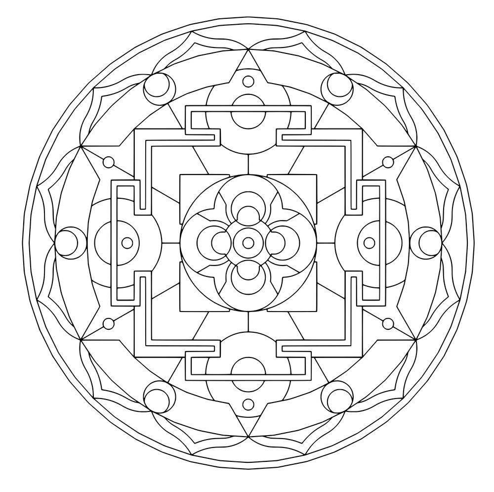 sacred geometry coloring pages bing images - Sacred Geometry Coloring Book