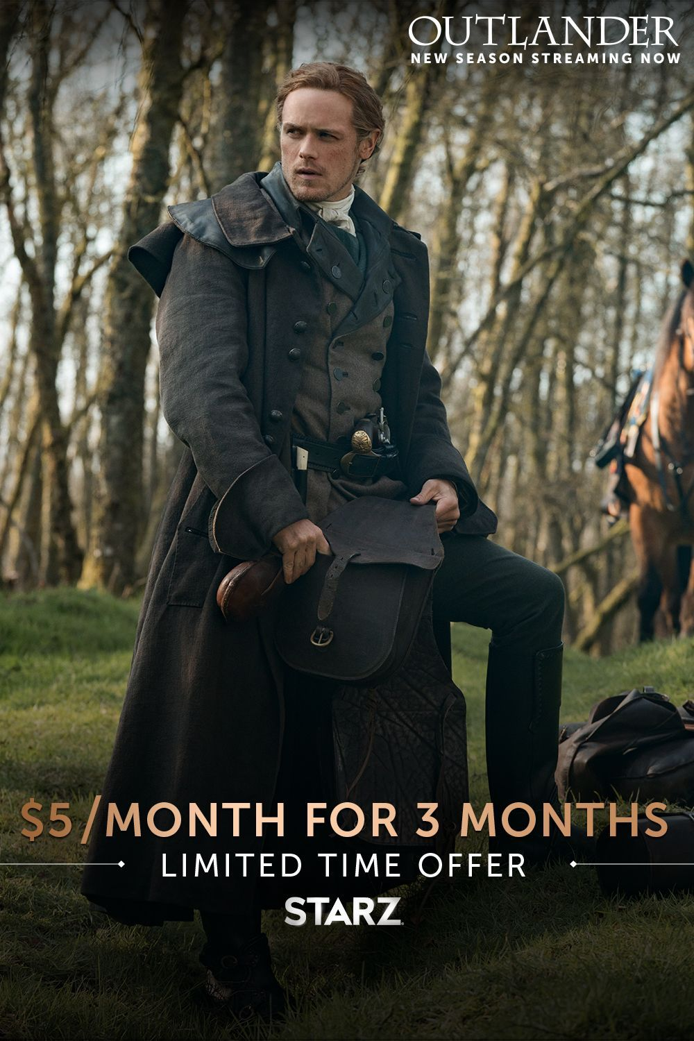 STARZ's special holiday offer, just for you. 5 per month