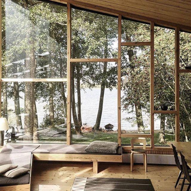 Hol Die Natur Ins Haus Grosse Fensterfront Eroffnet Direkten Blick