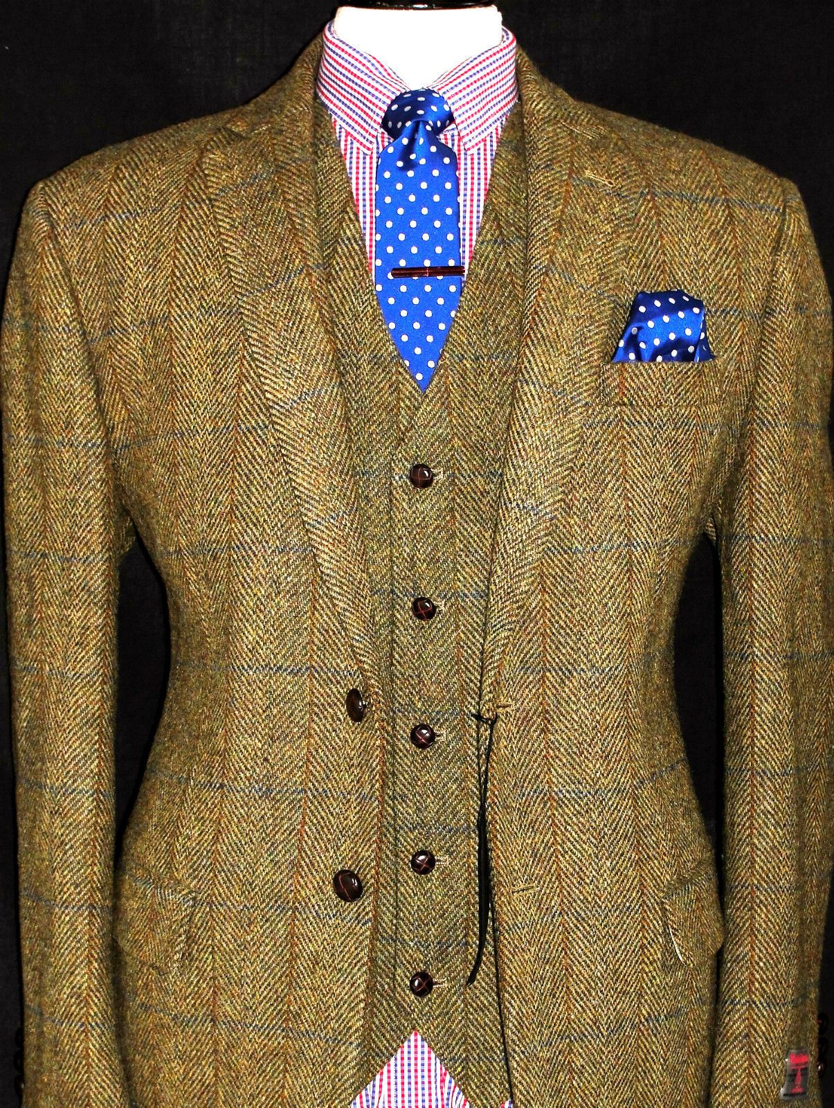 Bnwt Mens Harris Tweed London Shooting Hunting Suit Jacket Waistcoat 46s Hunting Suit Mens Outfits Outdoor Outfit