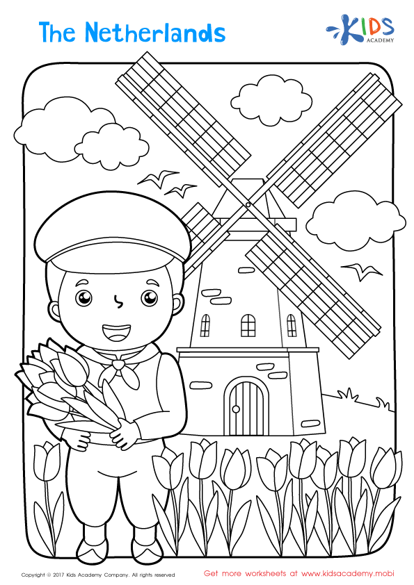 The Netherlands Coloring Page Around The World Crafts For Kids Coloring Pages Free Coloring Pages