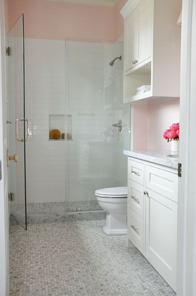Behan Residence Little S Bath Carrera Marble Slab On Vanity Bathroom Pretty Inspiration Ideas White Carrara