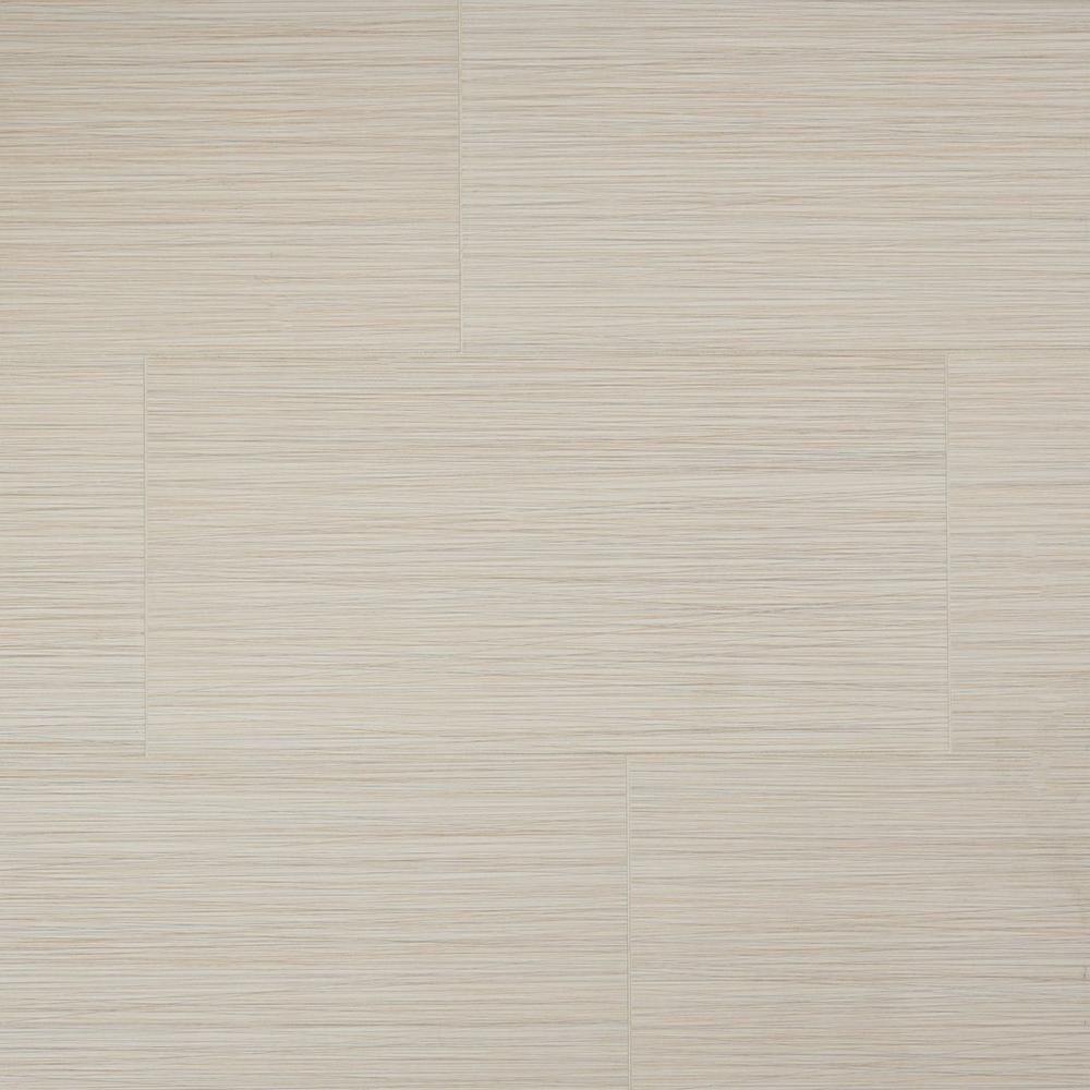 Tessuto Linen Beige White Body Ceramic Tile 12in X 24in