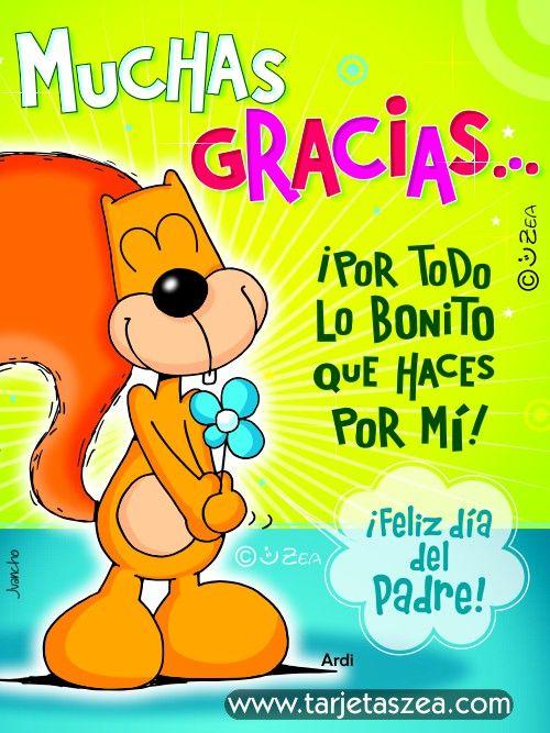 Muchas gracias u2026 u00a1por todo lo bonito que haces por mi! u00a1feliz día del padre! Compartir Hac clic