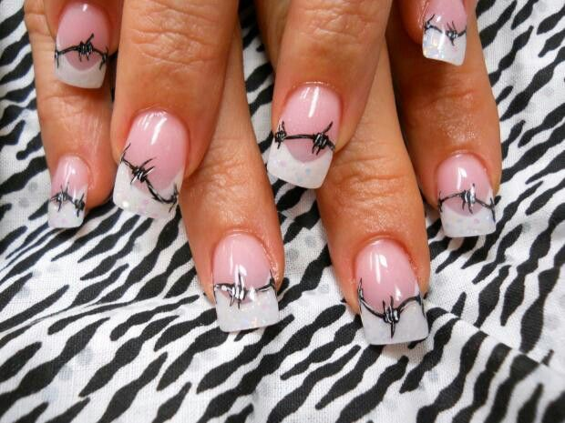 Barb wire nails southern nails pinterest makeup western barb wire nails prinsesfo Images