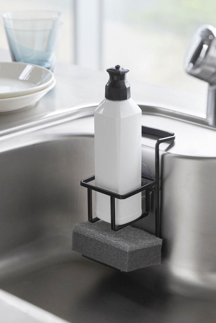 吸盤スポンジ ボトルホルダー タワー 洗剤ボトル キッチン収納術 シンク収納