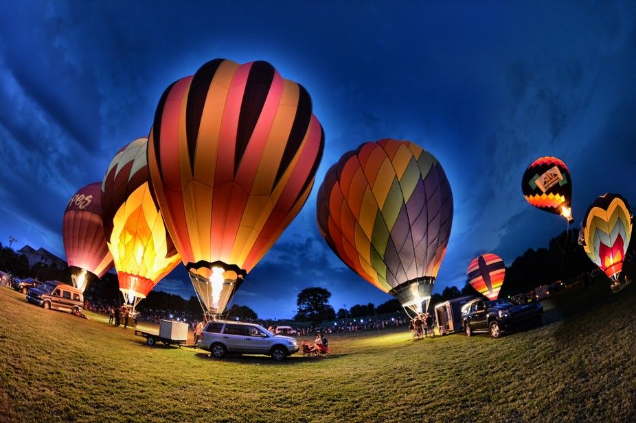 "Photo ""PreaknessBalloonglow2013Maryland"" by NocturnalEchoImagery"
