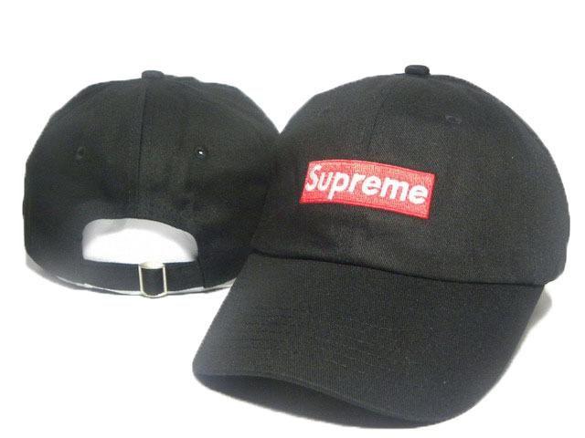 0997dbcc984c3c Men's / Women's Unisex Supreme Squared Supreme Embroidery Logo Baseball  Adjustable Strap Back Hat - Black
