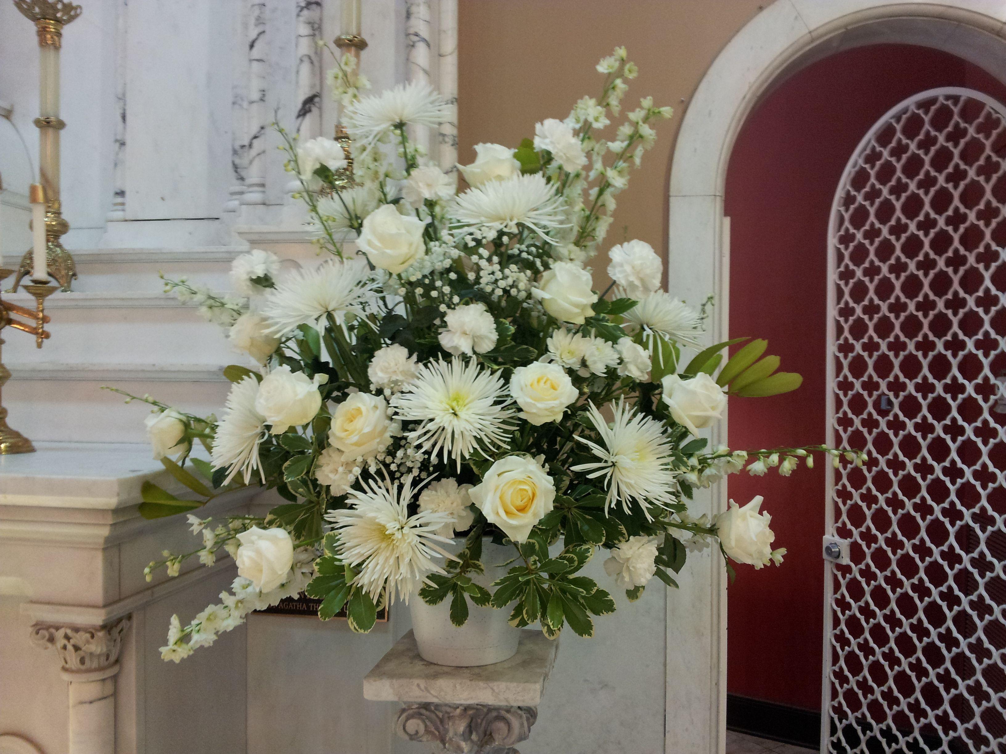 Altar flower arrangement; Catholic Church in West Palm Beach ...