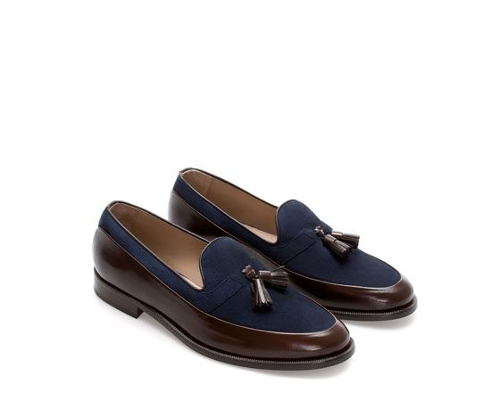 5d4152aba69 Image 4 of COMBINATION MOCCASIN from Zara Dress Loafers