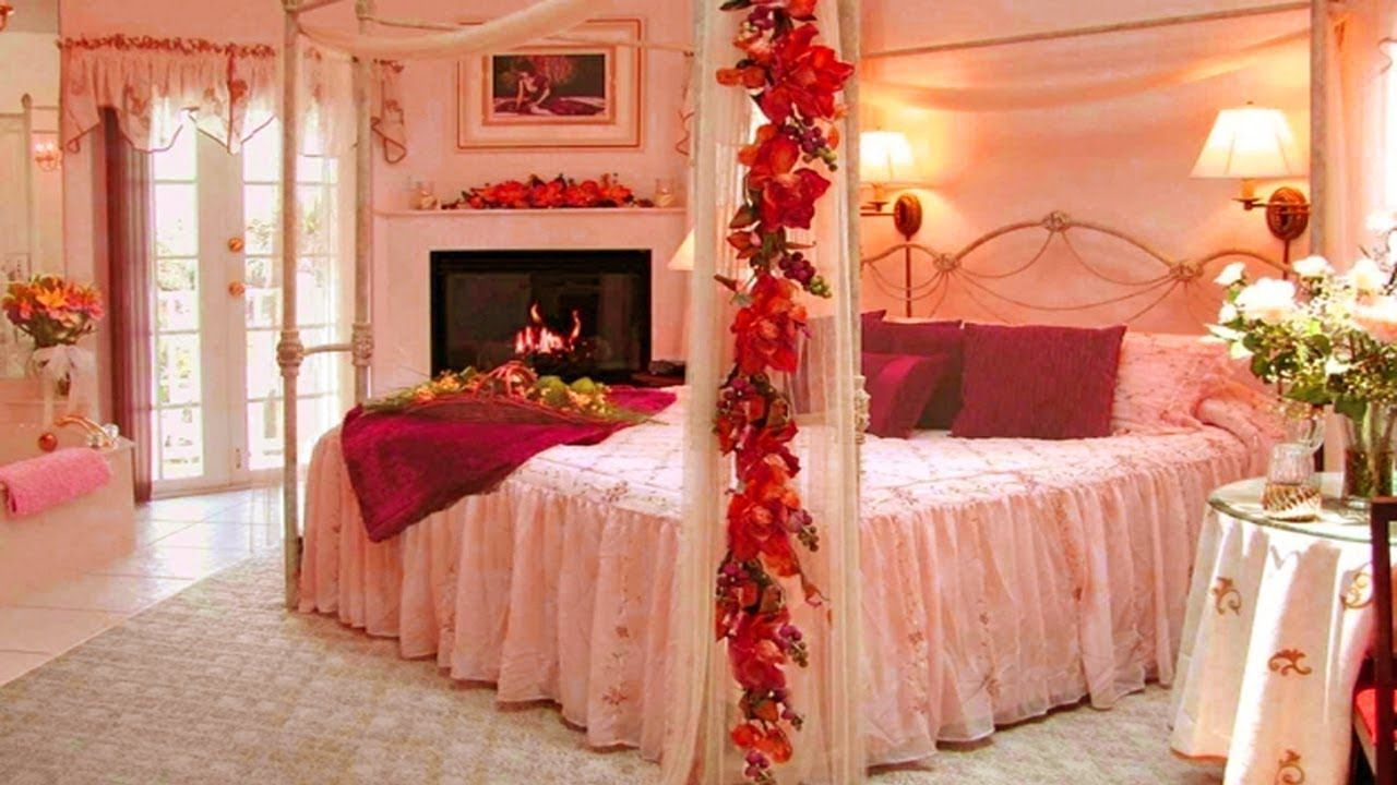 Room decoration for a couple with flowers - Room Beautiful Romantic Couple Bedroom Design