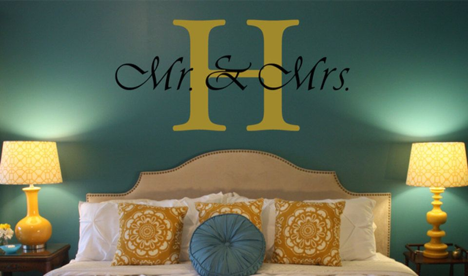 Mr U0026 Mrs Initial Personalized Wall Decal. Would Love For Above The Front  Door,