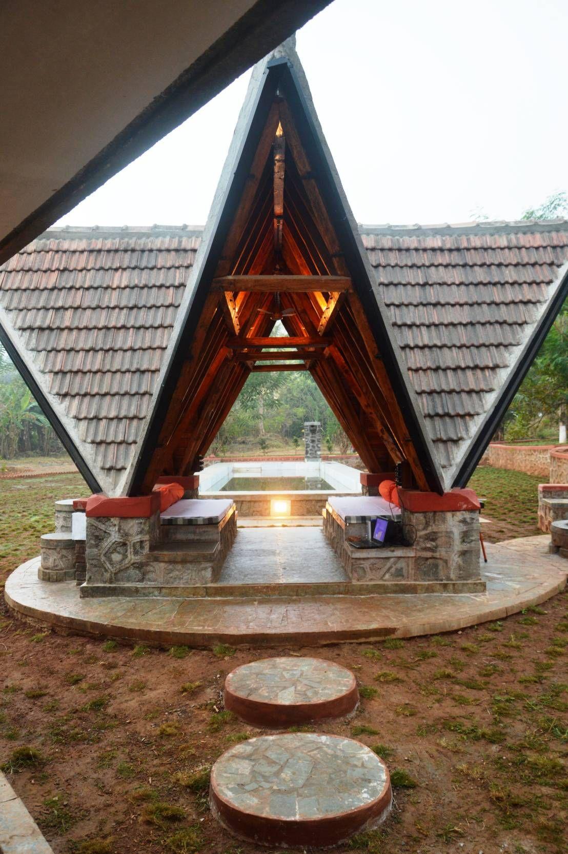 An earthy Indian farm residence House styles, House, Design
