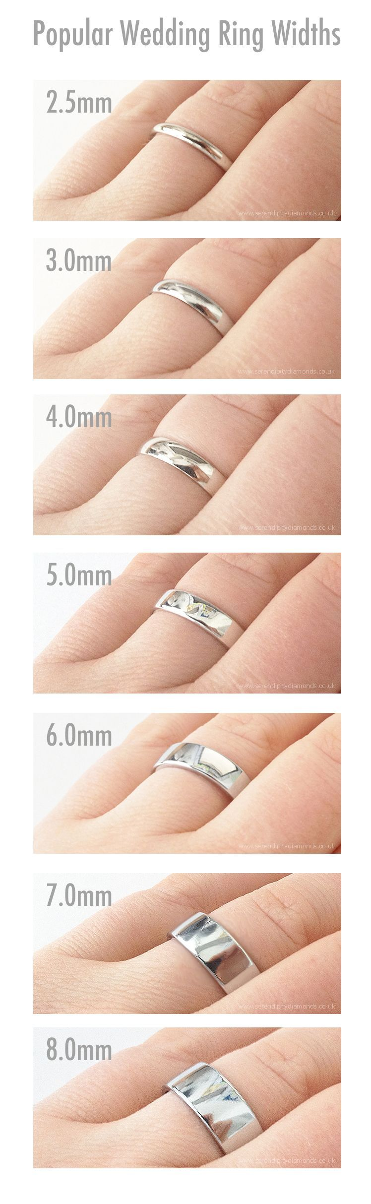 Por Widths Of Plain Wedding Rings Showing 2 5mm To 8mm As Choices For Men S Weddingring