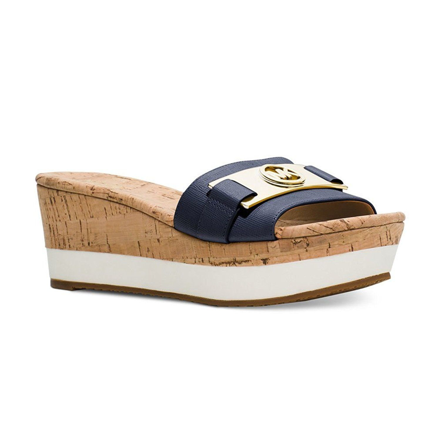 9965a6817ef New Michael By Michael Kors Warren Platform Navy 9 Womens Sandals     You  can get more details by clicking on the image.