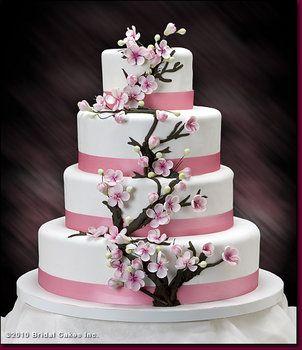 Wedding Blog Project Wedding Blog Cherry Blossom Wedding Cake Cherry Blossom Cake Beautiful Wedding Cakes