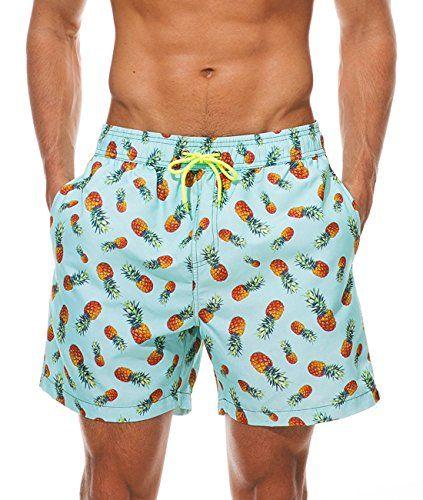 5321c1a40a9 MODCHOK Homme Shorts de Bain Plage Natation Boxer Pant Court de Sport Beach  Séchage Rapide -