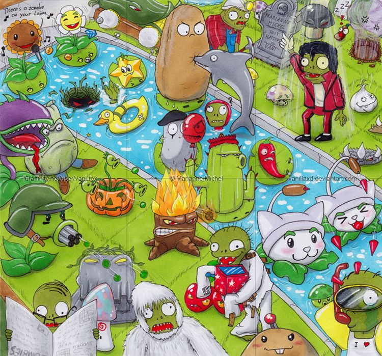 Aceo Cards Plants Vs Zombies By Vani Fox Plants Vs Zombies Plant Zombie Zombie Drawings