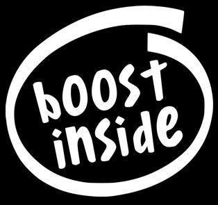 Boost Inside Funny JDM Custom Decal Sticker ImportJdm - Custom vinyl decals for cars jdmdope thumbs up funny jdm custom decal sticker car decals