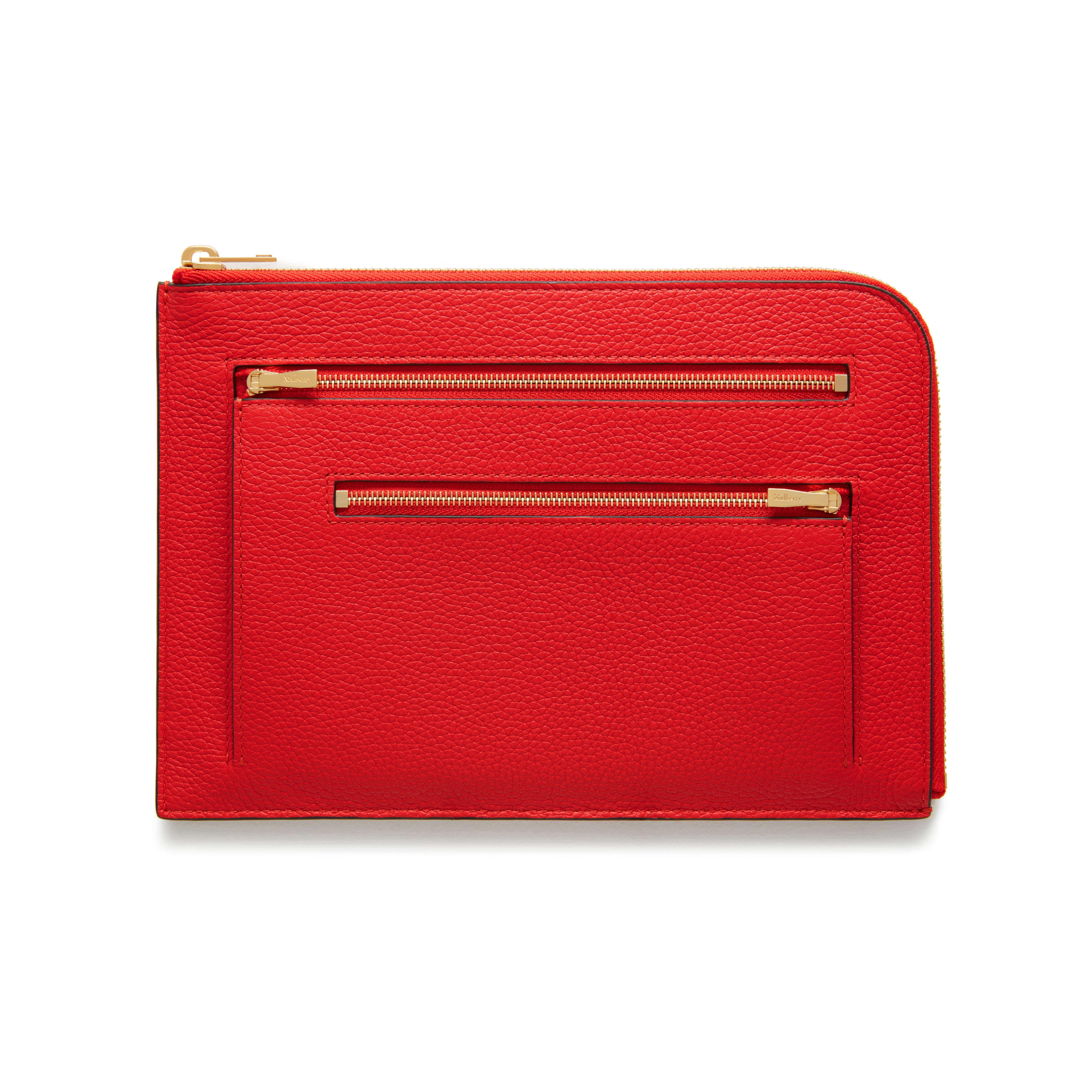 a57731df0747 Shop the Travel Pouch in Fiery Red Small Classic Grain Leather at Mulberry .com.