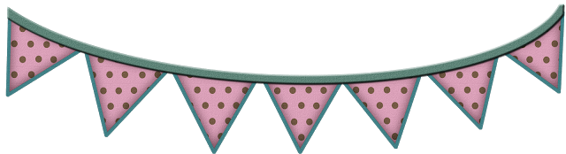 """Free 12"""" Pink Brown Polka Strawberry Coco Digi Scrapbook Flag Trim ***Join 1,810 people. Follow our Free Digital Scrapbook Board. New Freebies every day."""