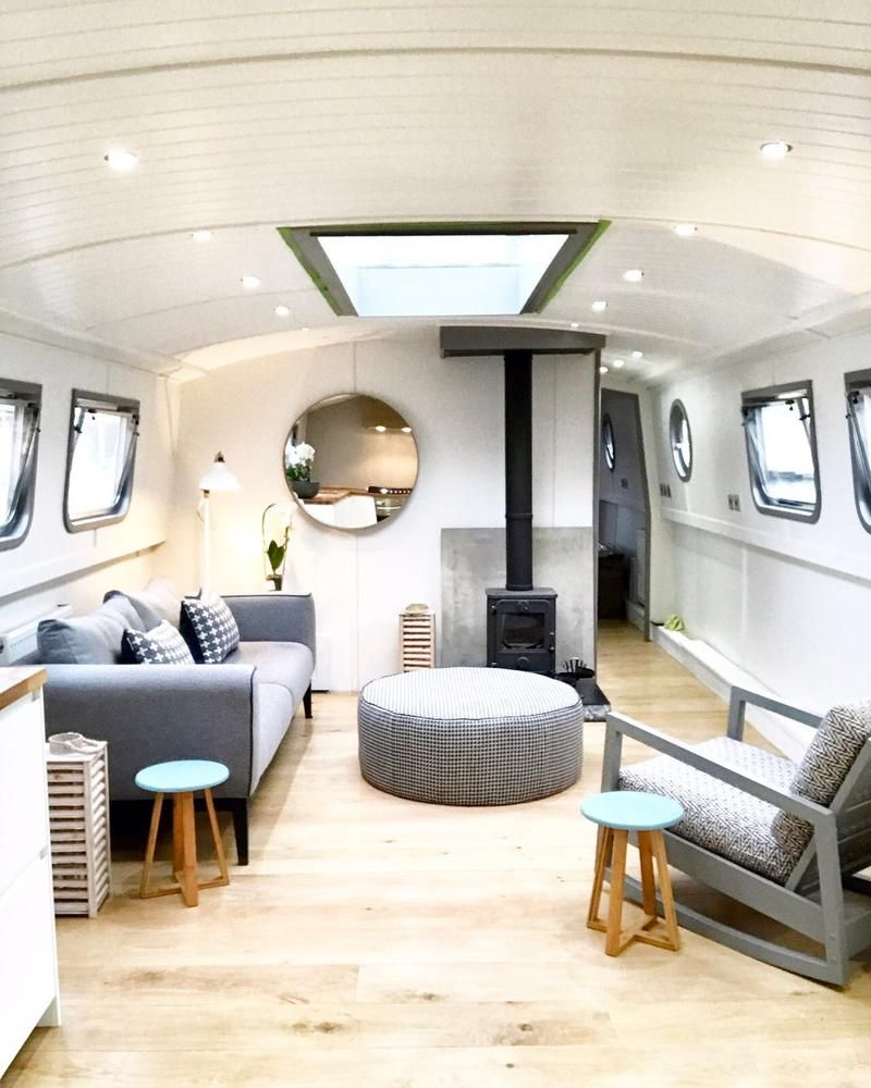 Modern Designer Widebeam Boat Finished In A Contemporary