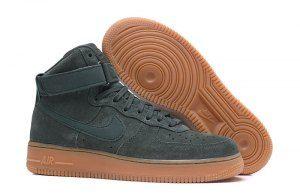Herren Damen Nike Air High Force 1 High Air 07 LV8 Suede Vintage Grün Gum 4912da