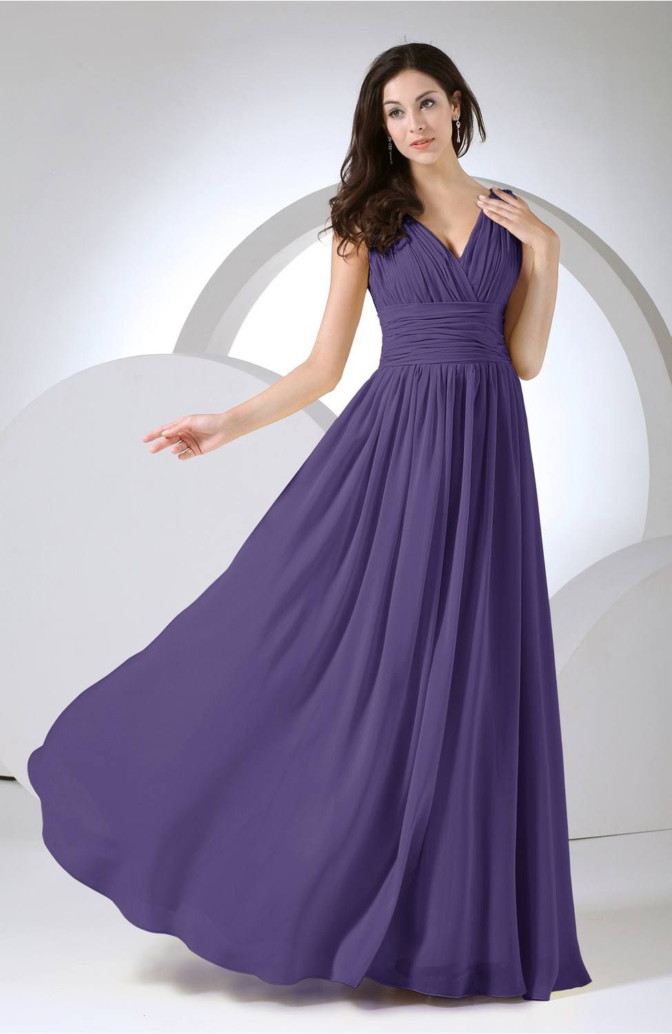 Royal purple modest prom homecoming dress bridesmaid floor length royal purple modest prom homecoming dress bridesmaid floor length full figure formal women cheap ombrellifo Gallery