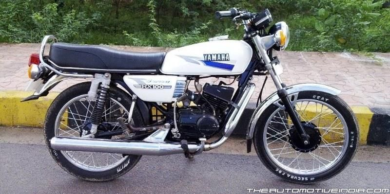 Altered White Dragon Lvl 1 Yamaha Rx100 Motorcycle Art White