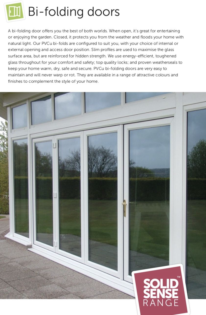 A bi-folding door offers you the best of both worlds. When open ...