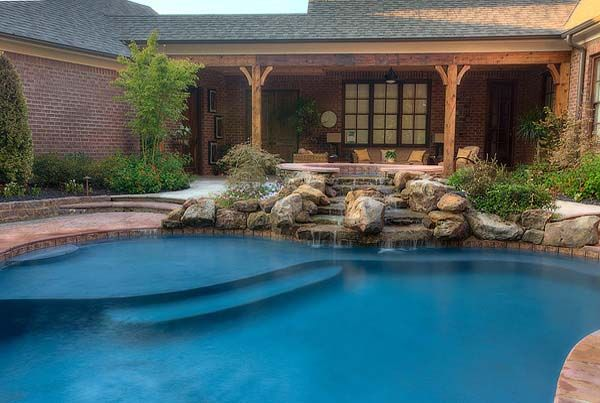 Outdoor Kitchen Slideshow Natures Path Pool And Landscape View An Online Tour Of Some Our Memphis Kitchens