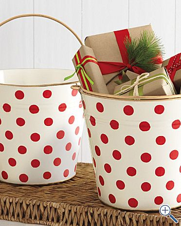 Brown paper bag, wrap small boxes and fill with a piece of candy or inexpensive trinkets. Decorate and number the boxes 1-25 and open during the (Advent) count-down to Christmas!