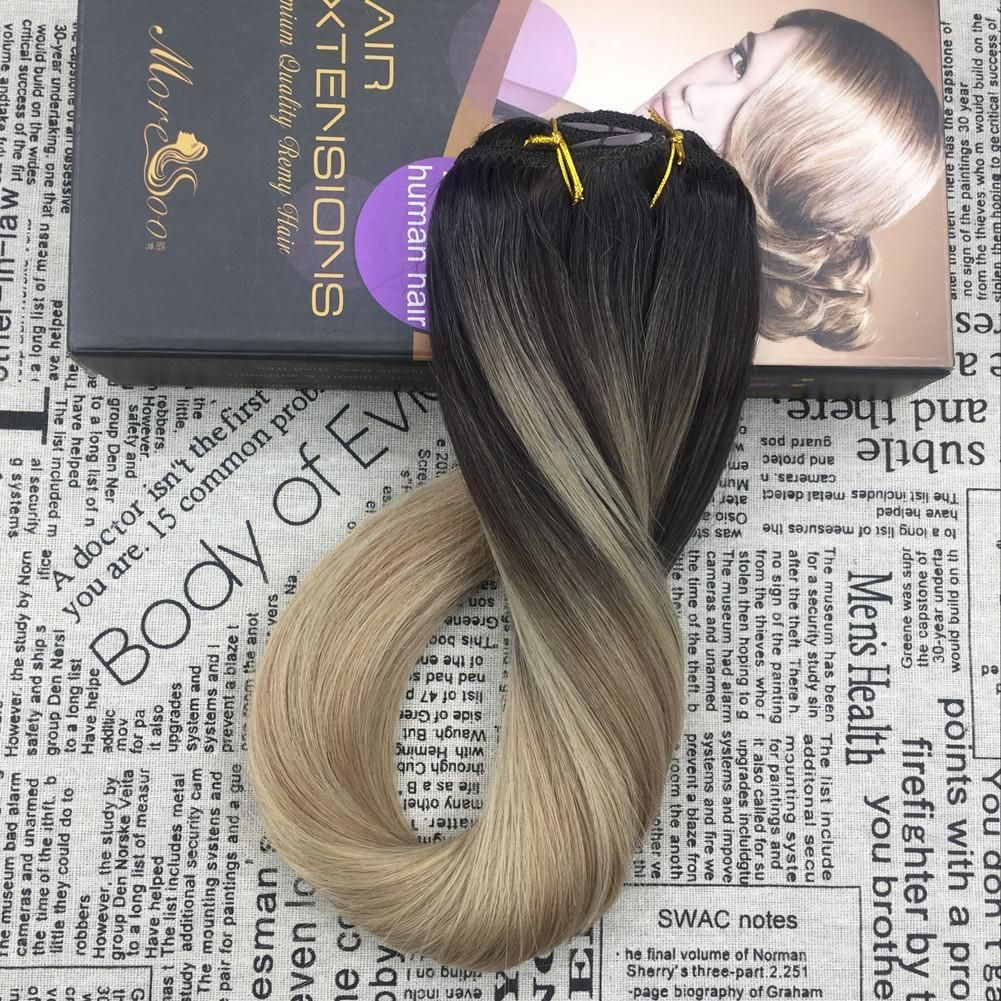 Clip In Moresoo Hair Extensions In 120 Grams Are Perfect For Adding
