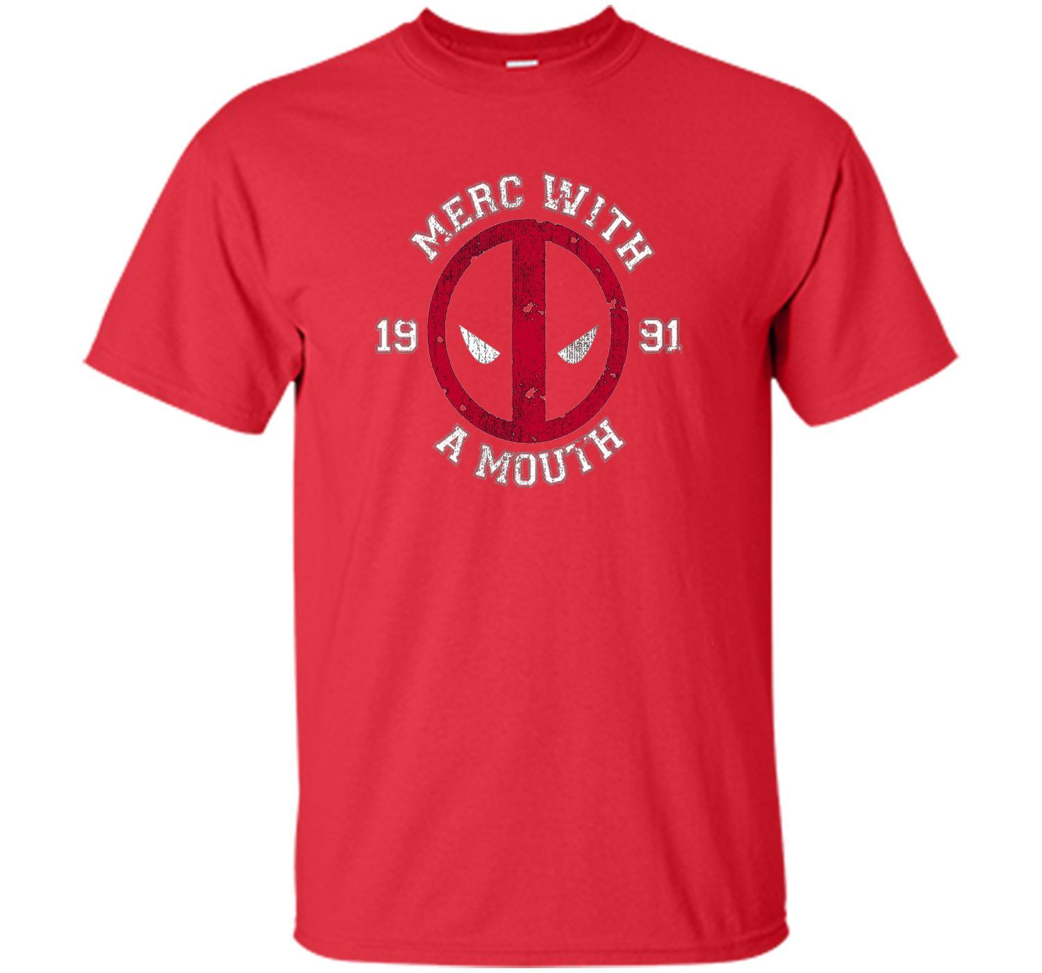 Marvel Deadpool Merc With Mouth Graphic T-ShirtMarvel Deadpo