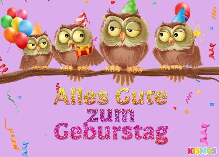 Geburtstagskarte niedliche eulen herunterladen ausdrucken for Geburtstagskarten gratis drucken