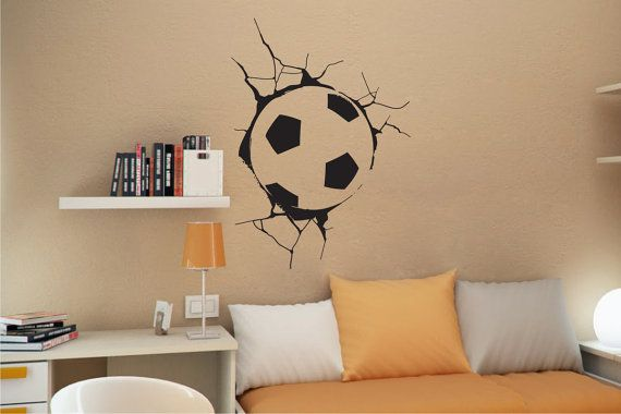 SOCCER BALL in WALL Sticker by StickONmania. Wall by StickONmania, $19.00