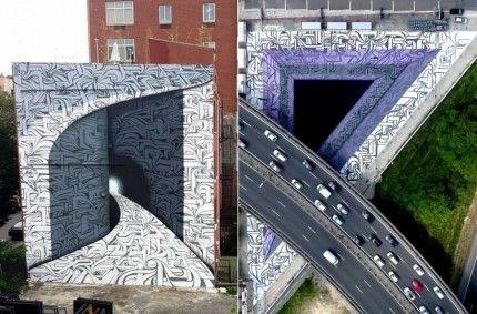 Street Art keren ini seperti bisa dimasuki dan membawa kita ke ...