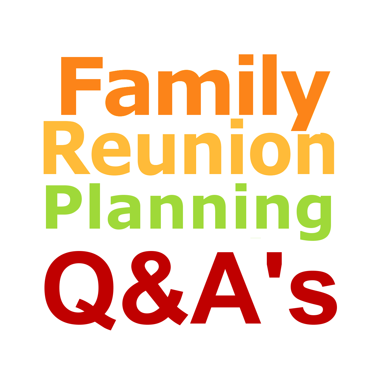 Family Reunion Planner Questions And Answers