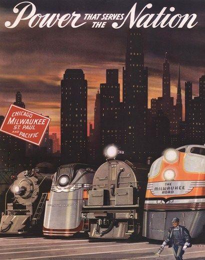Chicago Milwaukee RR poster