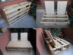 DIY Outdoor Pallet Sofa Instructions #sofaauspalletten