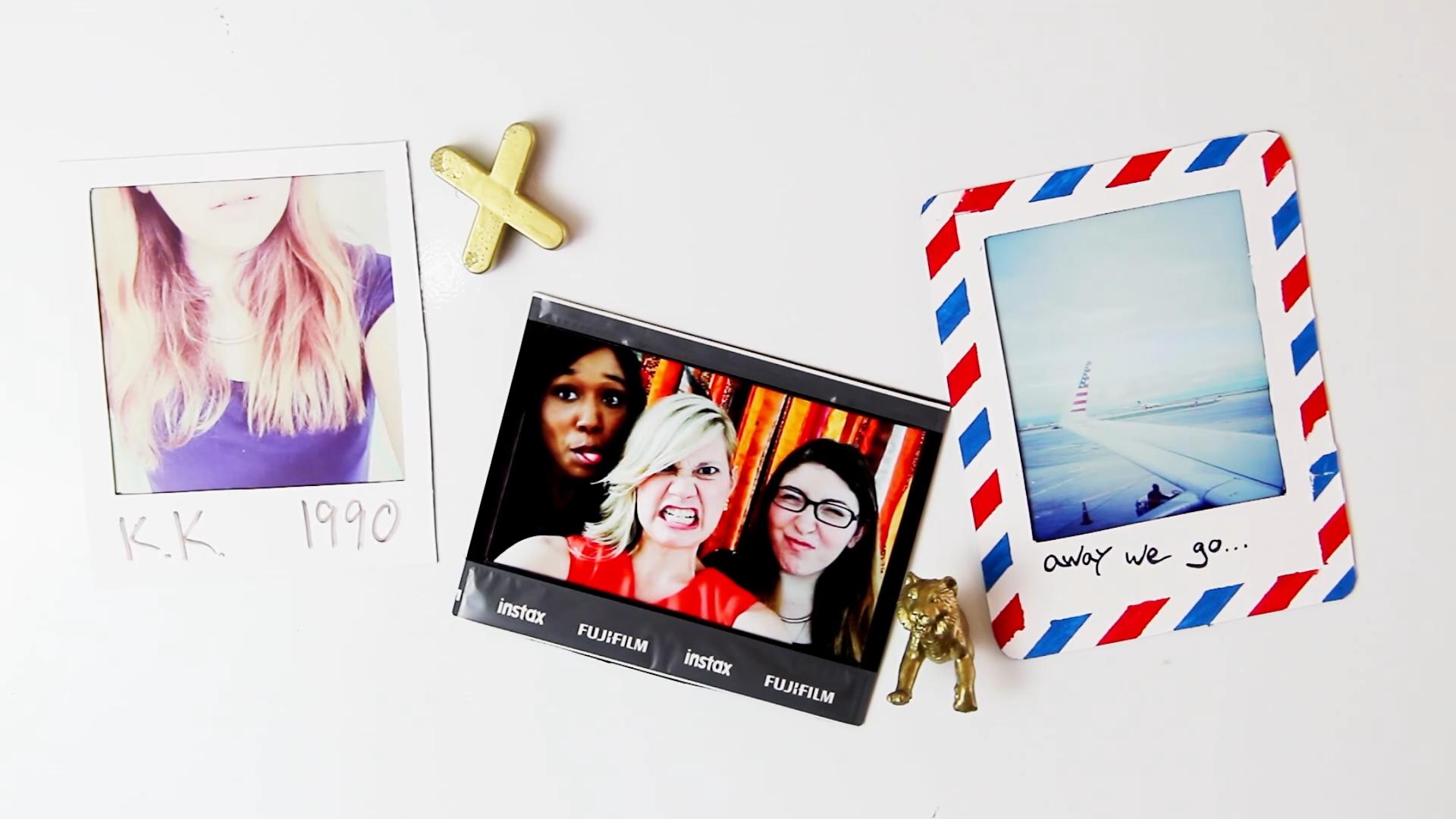 Diy Instant Photo Magnetic Frames Easy Handmade Locker Or Fridge
