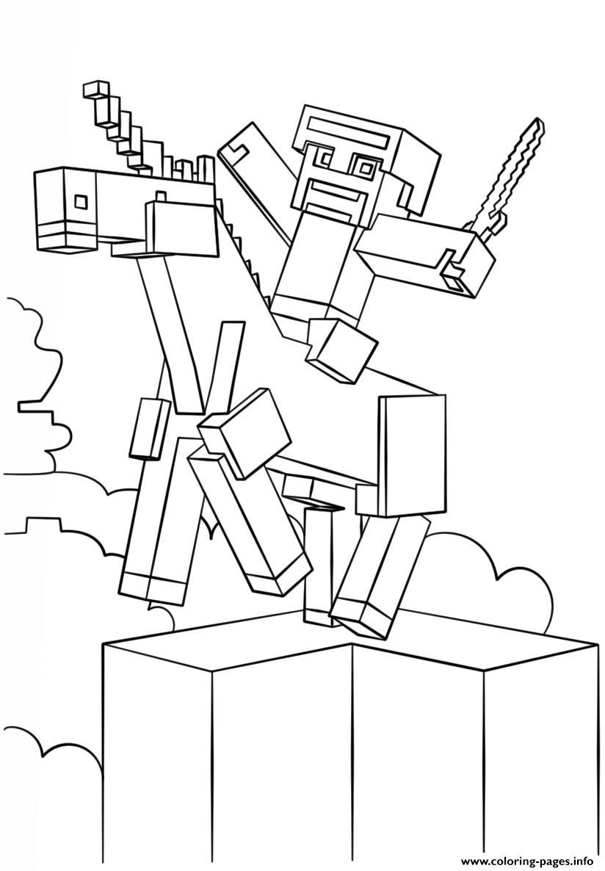 Print Minecraft Unicorn Coloring Pages Malvorlage Einhorn Minecraft Ausmalbilder Pokemon Malvorlagen
