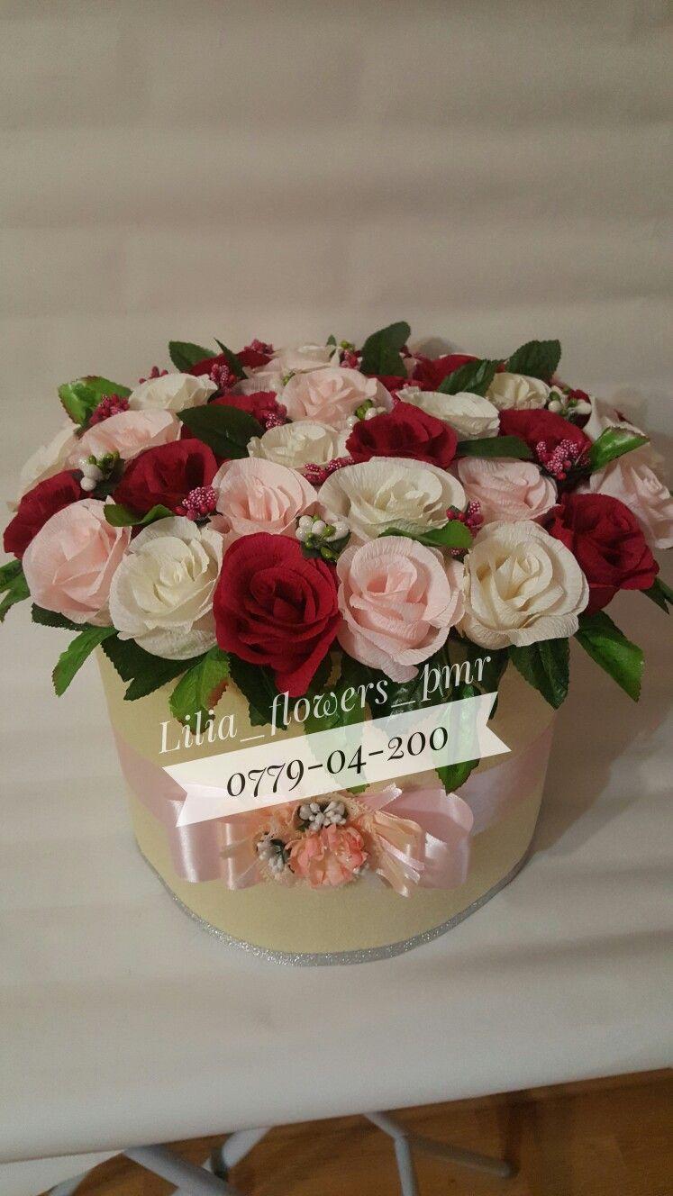 Букет цветов из бумажных цветов своими руками фото 976