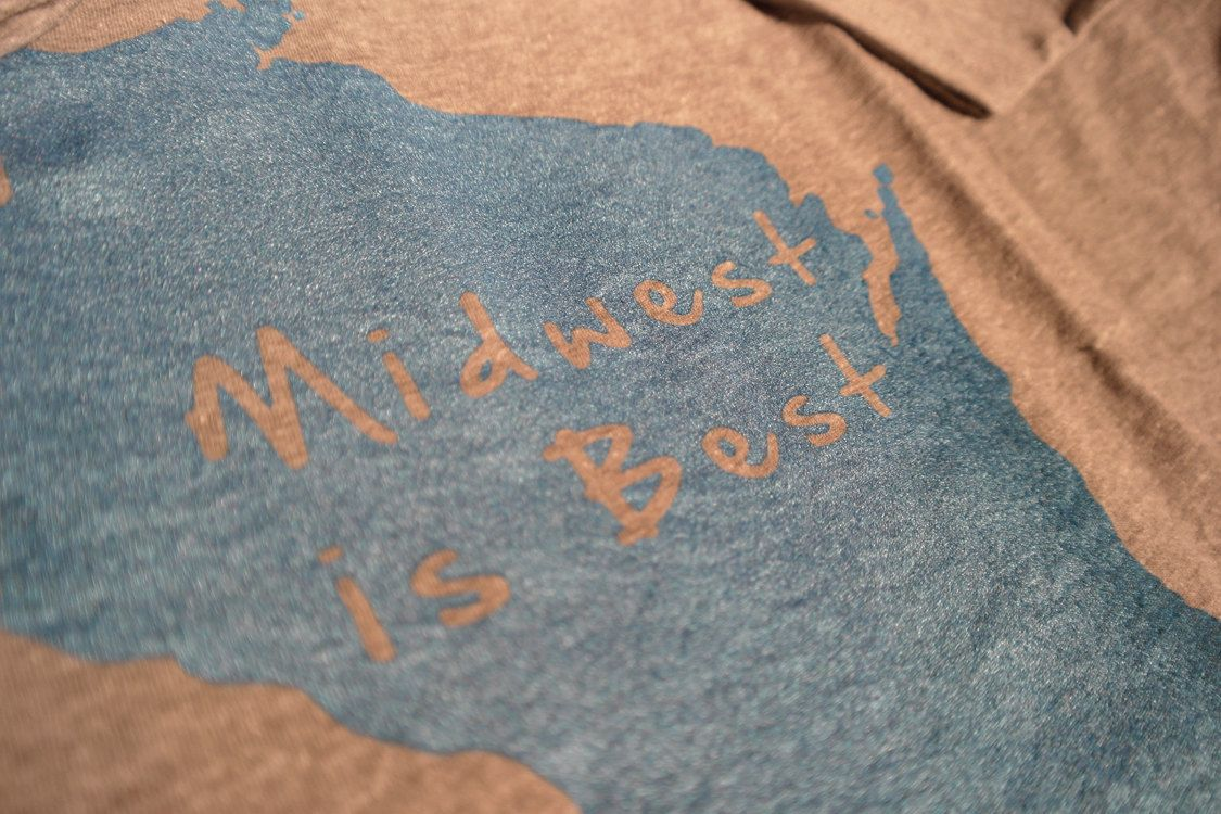 Men's Wisconsin 'Midwest is Best' TShirt by MauiAndHerOwl on Etsy