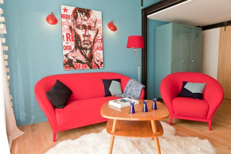 Déco Canapé Rouge – Idées Maison Image